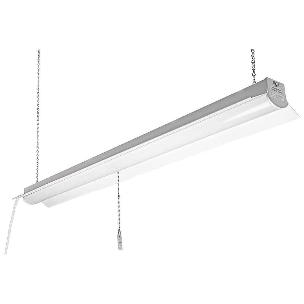 Commercial Electric 4000K 4 ft. 64-Watt Equivalent Integrated LED White Linkable Shop Light