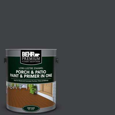 1 gal. #PFC-75 Tar Black Low-Lustre Interior/Exterior Paint and Primer In One Porch and Patio Floor Paint