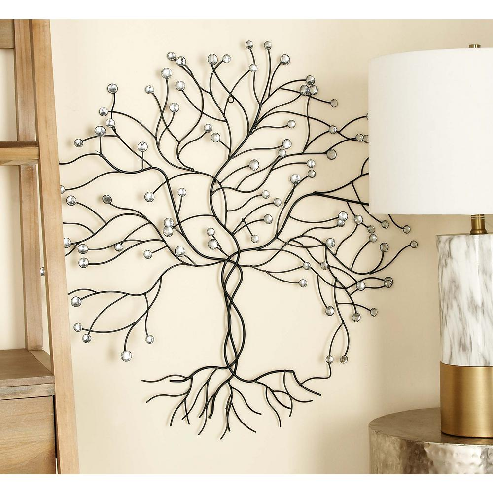 Wire And Glass Wall Art Home Decor ~ In glitz inspired iron wire tree wall decor