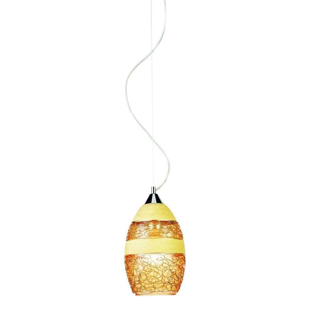 Eurofase Shayna Collection 1-Light Gold Hanging Mini Pendant