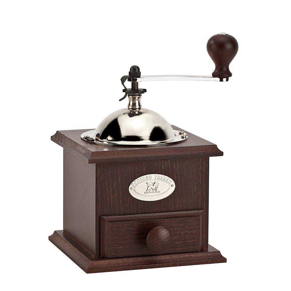 Nostalgia Beechwood 2 oz. Brown Burr Manual Coffee Grinder