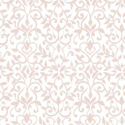 Creative Covering 18 in. x 20 ft. Antique Floral Pink Self-Adhesive Vinyl Drawer and Shelf Liner (6 Rolls)