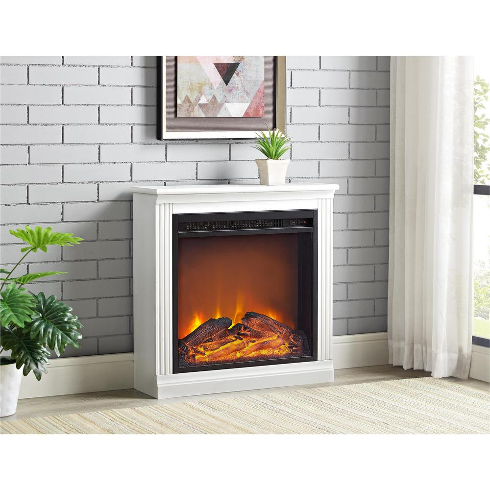 Bruxton Simple Fireplace In White 1812296com The Home Depot