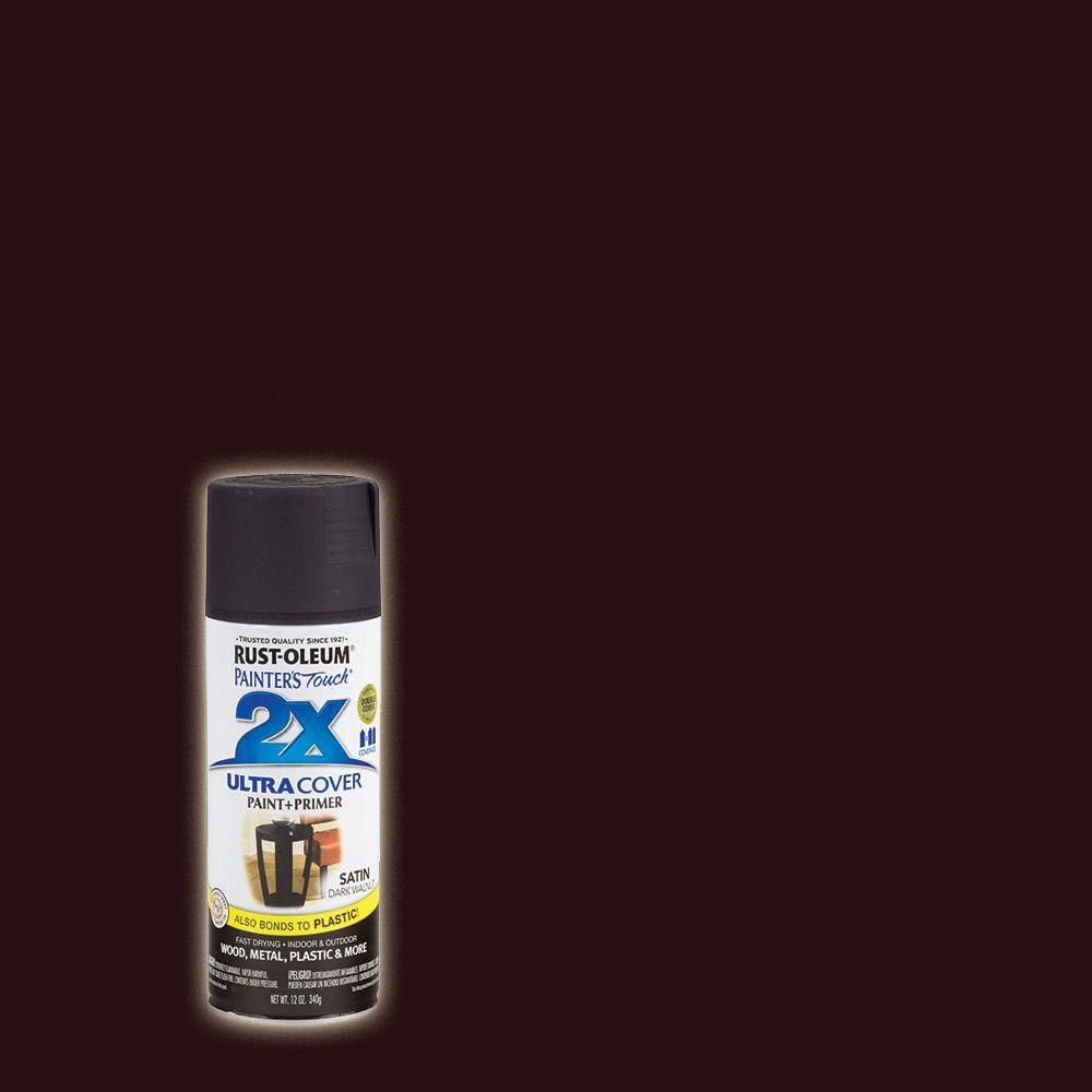 Rust-Oleum Painter's Touch 2X 12 oz. Satin Dark Walnut General Purpose Spray Paint