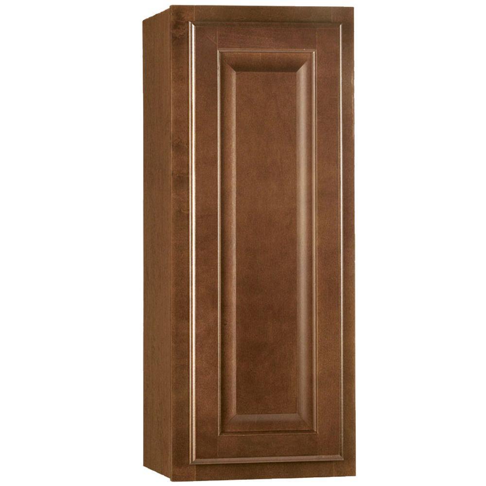 Hampton Assembled 12x30x12 in. Wall Kitchen Cabinet in Cognac
