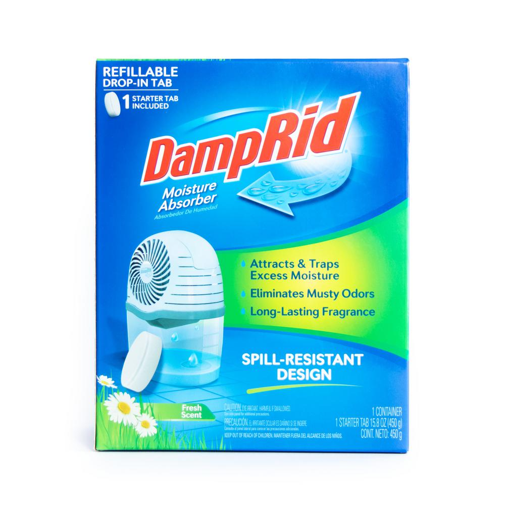 DampRid 15.8 oz. Fresh Scent Refillable Drop-in Tab Moisture Absorber Starter Kit