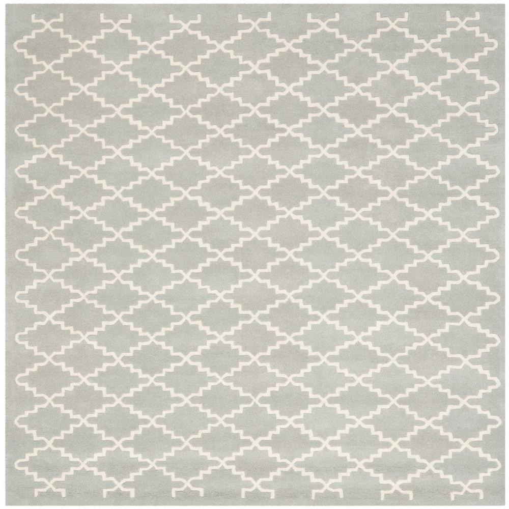 Chatham Grey/Ivory 7 ft. x 7 ft. Square Area Rug