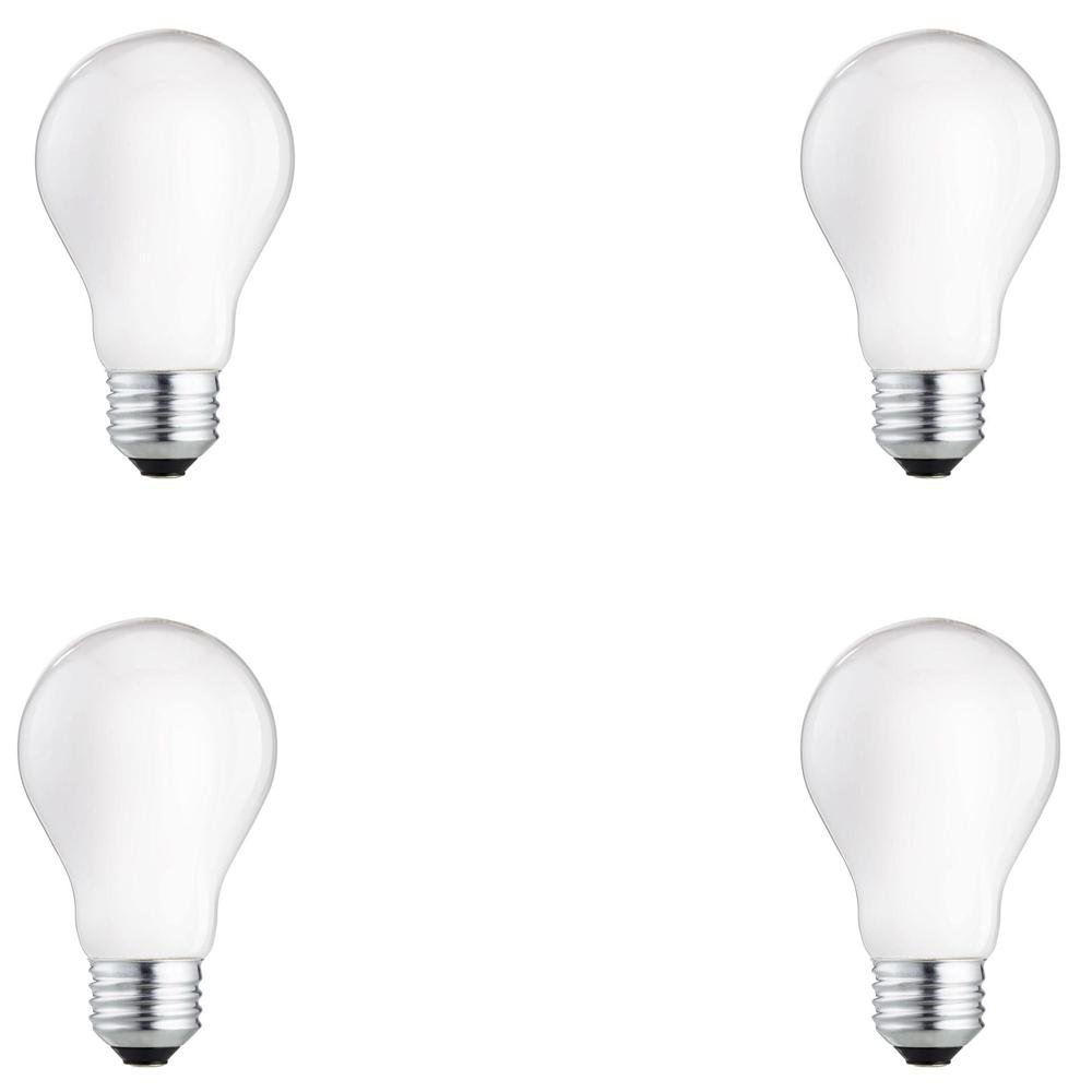 60-Watt Equivalent A19 Halogen Long Life Light Bulb (4-Pack)