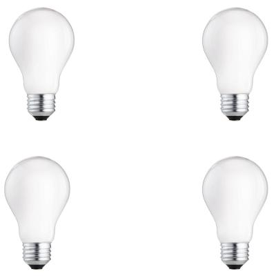 60-Watt Equivalent A19 Dimmable Energy Efficient Halogen Light Bulb Soft White (2715K) (4-Pack)