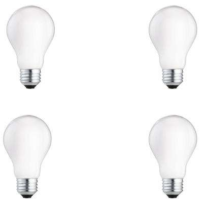 60-Watt Equivalent A19 Halogen Long Life Light Bulb (4-Pack)