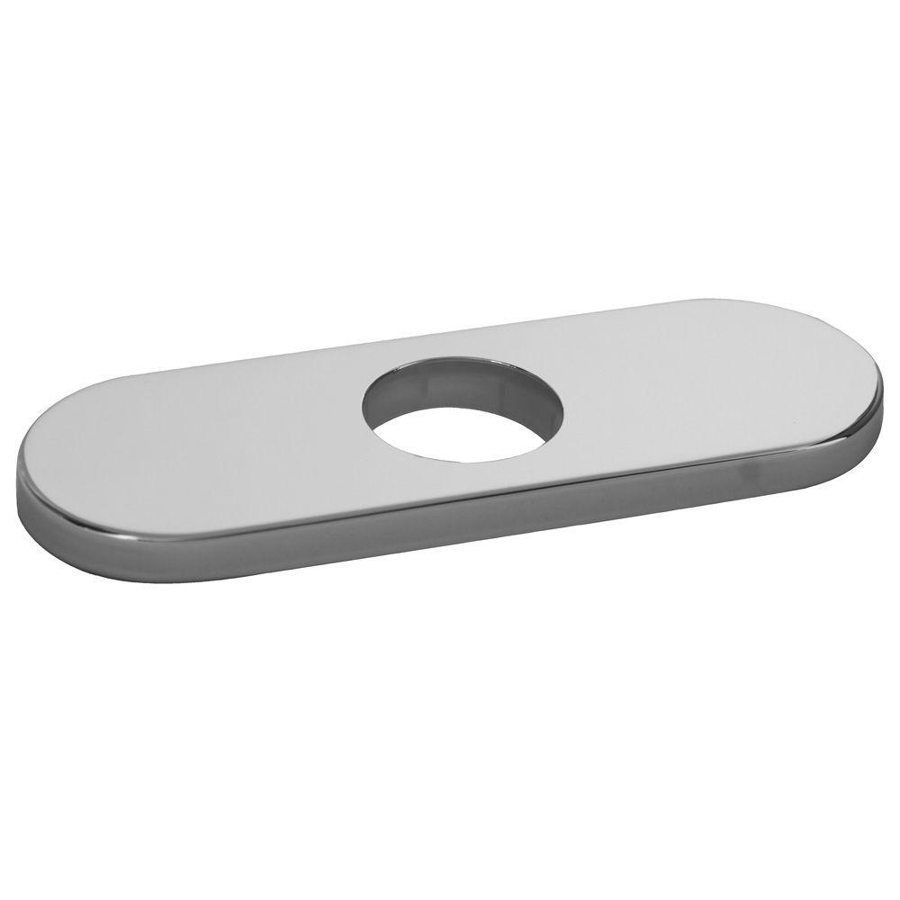 Moments and Serin 2 in. Brass Escutcheon Plate in Polished Chrome