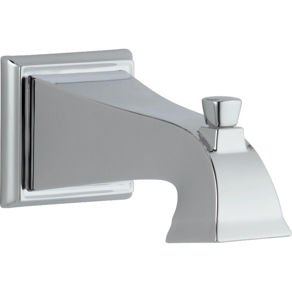 Dryden 7-1/2 in. Non-Metallic Pull-Up Diverter Tub Spout in Chrome