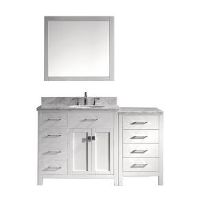 Virtu USA Caroline Parkway 57 inch W x 36 inch H Vanity with Marble Vanity Top in Carrara White with White Round Basin... by Virtu USA