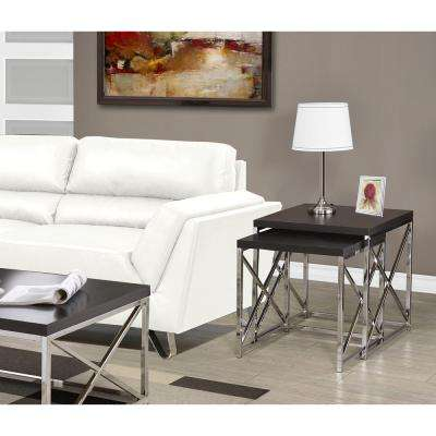 Cappuccino 2-Piece Nesting End Table