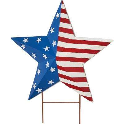 24 in. Americana Star on 4 in. Stake