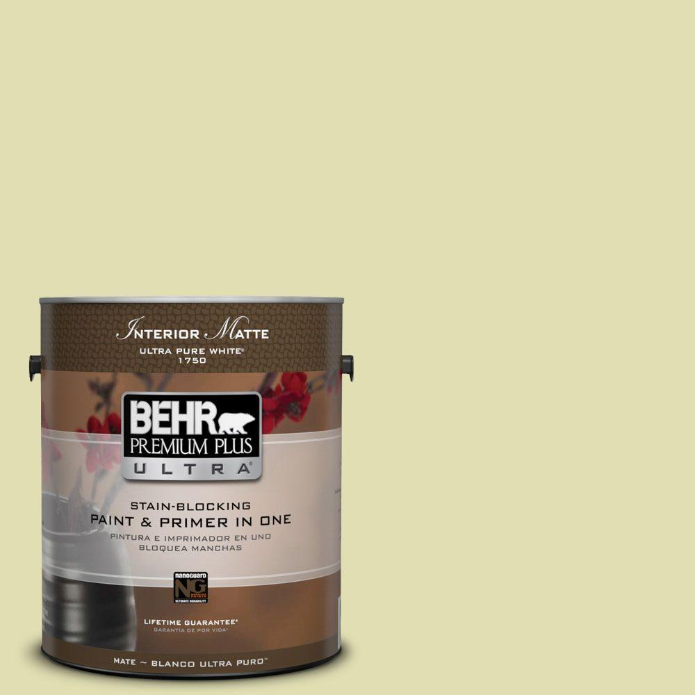 BEHR Premium Plus Ultra 1 gal. #M340-3 Pale Green Grape Matte Interior Paint