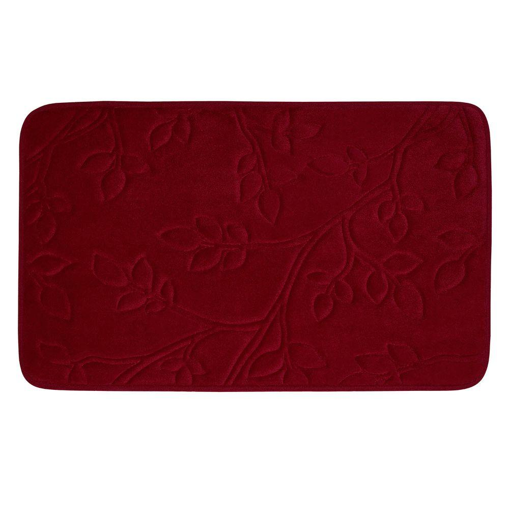Spring Leaves Barn Red 20 in. x 30 in. Memory Foam