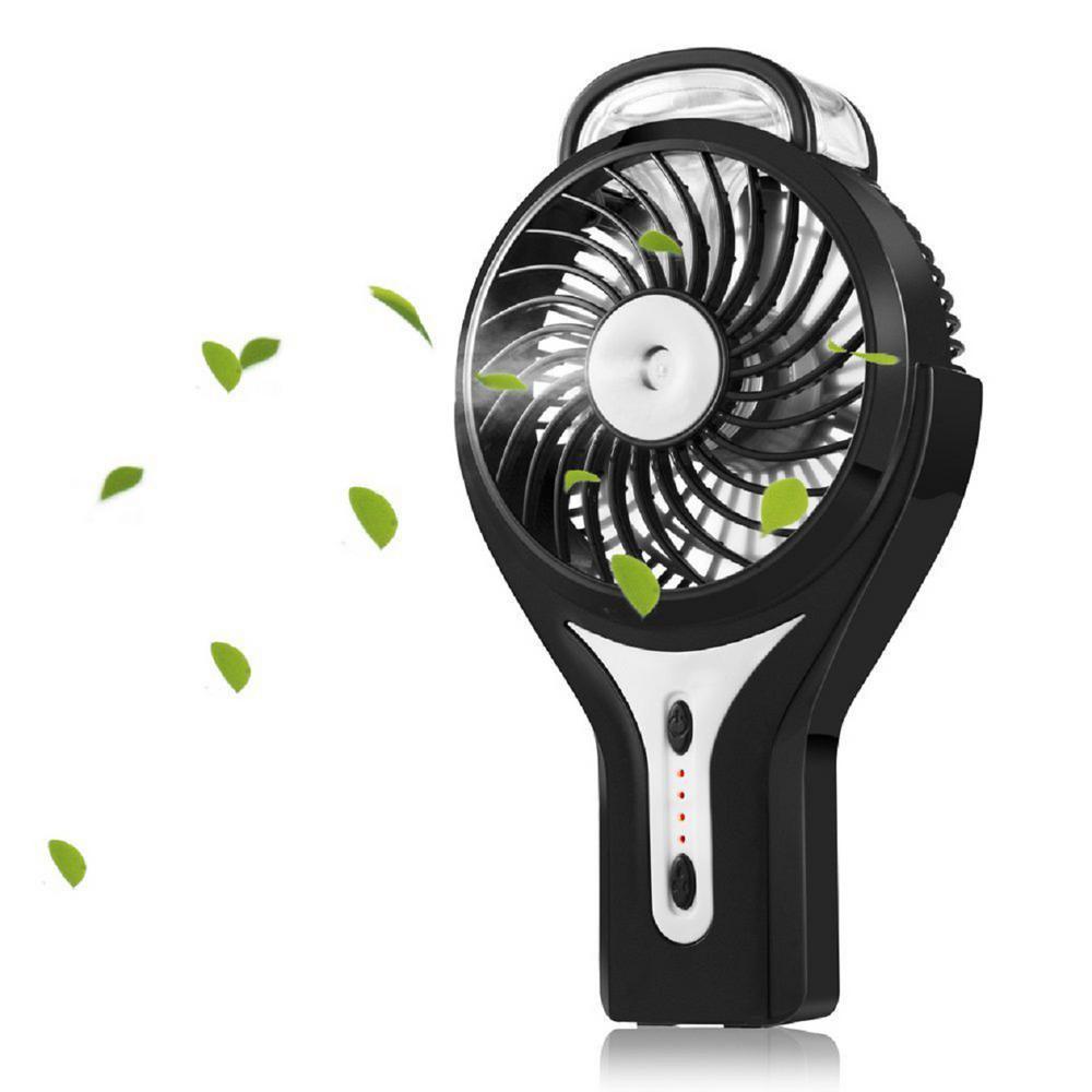 Misting Fan USB Rechargeable Black