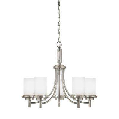 Winnetka 5-Light Brushed Nickel Chandelier with LED Bulbs