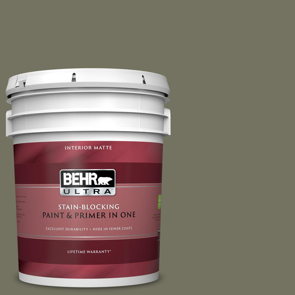 BEHR ULTRA 5 gal. #BXC-20 Amazon River Matte Interior Paint and Primer in One BEHR ULTRA 5 gal. #BXC-20 Amazon River Matte Interior Paint and Primer in One