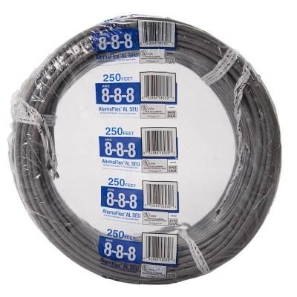 250 ft. 8-8-8 Gray Stranded AL SEU Cable