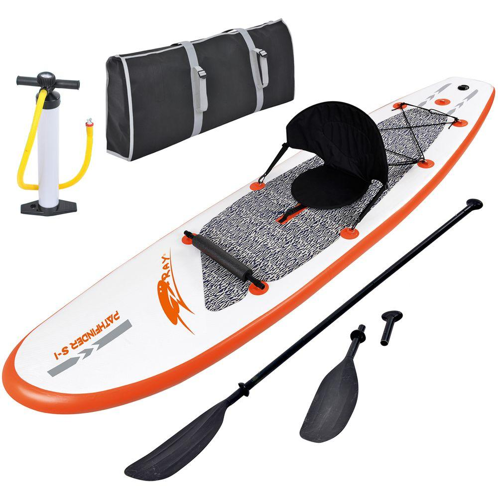 Blue Wave Stingray 10 ft. Inflatable Stand Up Paddleboard with Paddle and Hand Pump