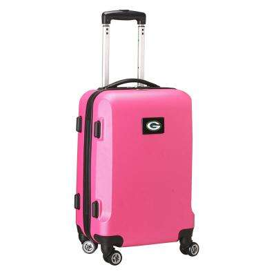 NFL Green Bay Packers 21 in. Pink Carry-On Hardcase Spinner Suitcase