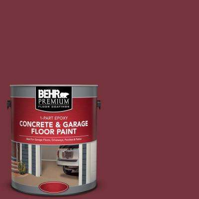 1 gal. #PFC-04 Tile Red 1-Part Epoxy Satin Interior/Exterior Concrete and Garage Floor Paint