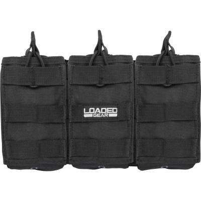 Loaded Gear 9.75 in. CX-200 Triple Magazine Pouch, Black