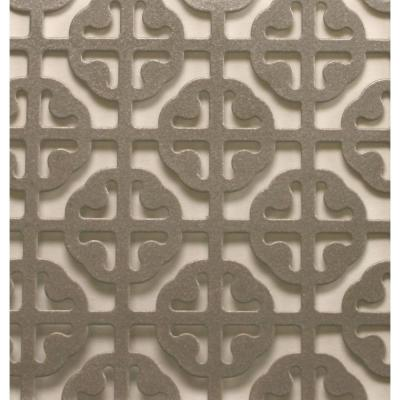 1 ft. x 2 ft. Satin Nickel Mosaic Aluminum Sheet