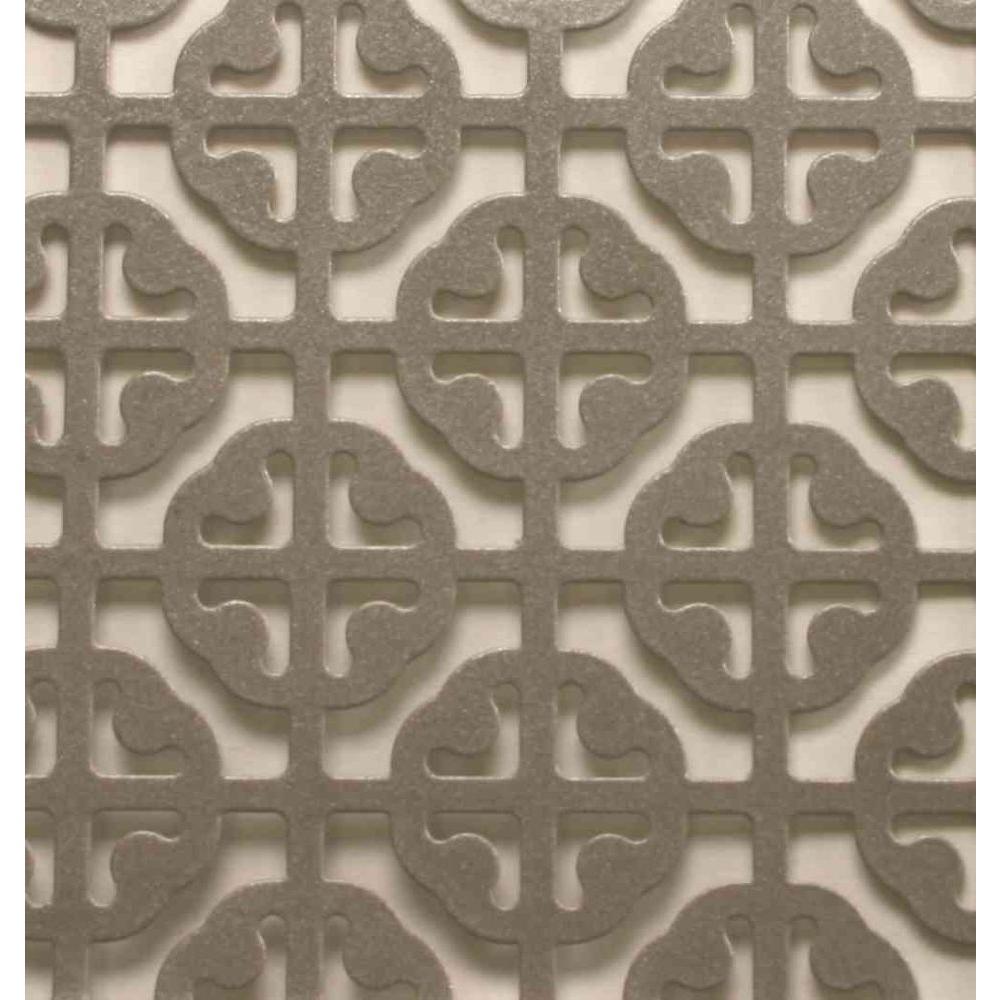 1 ft. x 2 ft. Satin Nickel Mosaic Aluminum Sheet