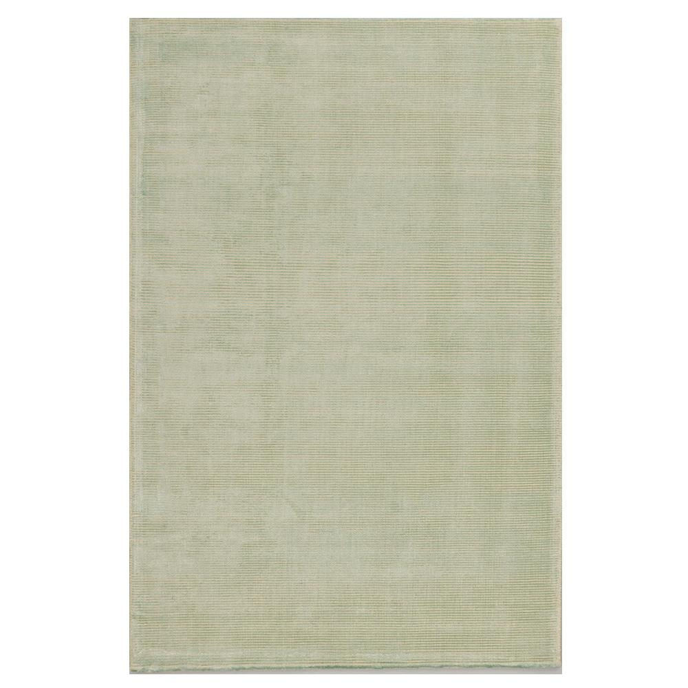Solo Rugs Grit And Ground Mint Silky Stripe Green 6 Ft X 9 Ft Hand Knotted Area Rug Gg010601008 The Home Depot