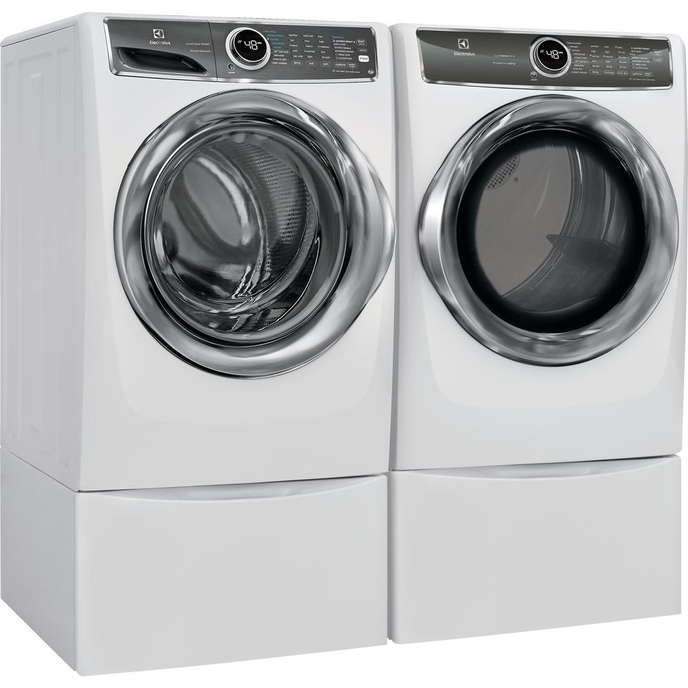 EFME627UIW 27 Electric Dryer and STACKIT7X Stacking Kit Electrolux White Front Load Laundry Pair with EFLS627UIW 27 Washer
