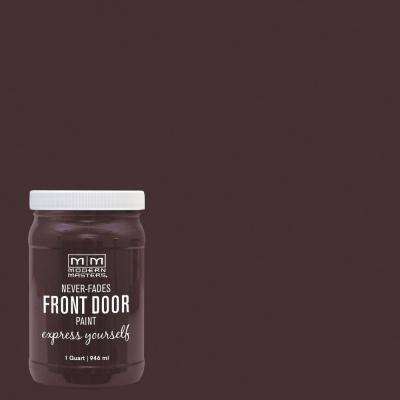 Express Yourself 1 qt. Satin Sincere Brown Water-Based Front Door Paint