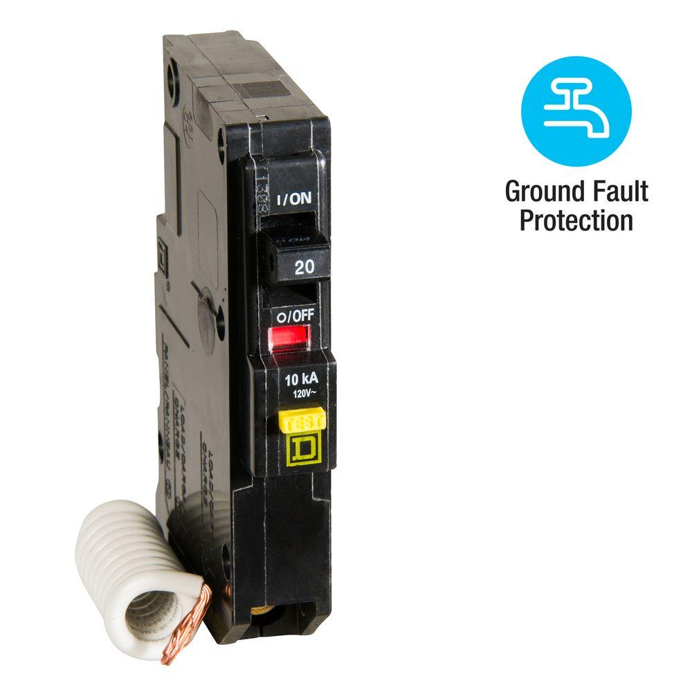 1 pc Square D QOB120 Used Circuit Breaker 20 Amp 1 Pole