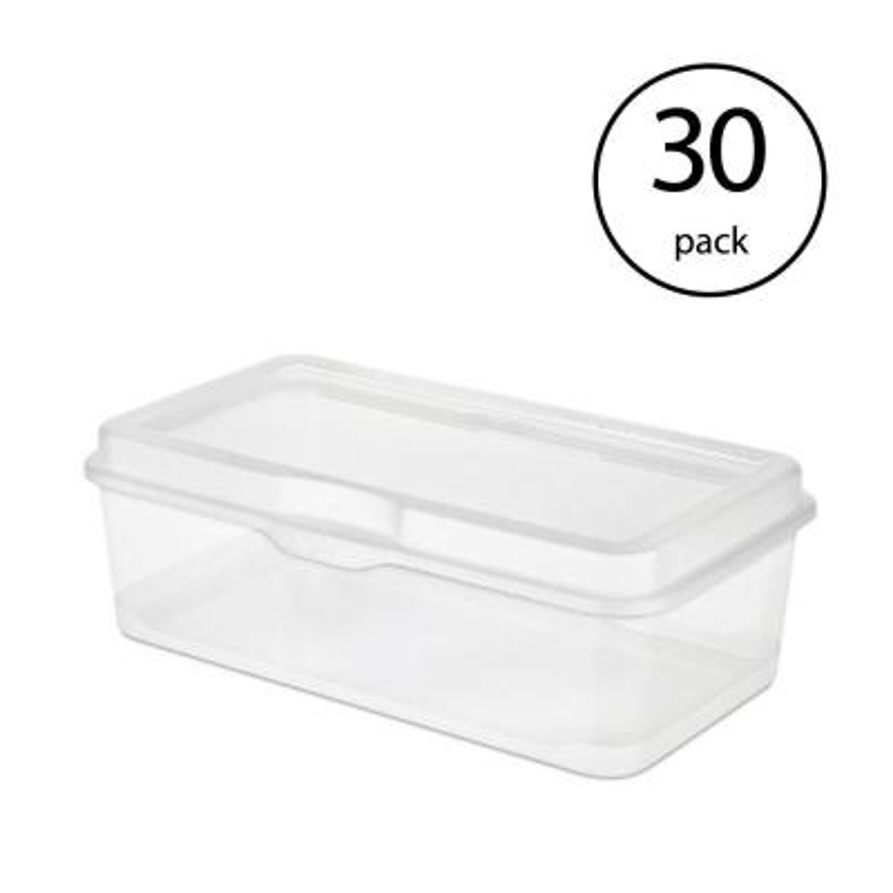30L 30 Litre Large Size Plastic Clear Storage Box Boxes Set Container Value 130