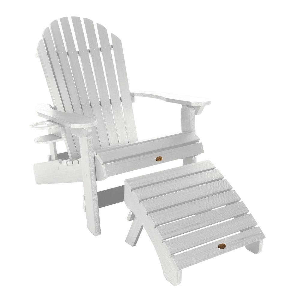 Fabulous Highwood King Hamilton White 3 Piece Recycled Plastic Outdoor Seating Set Ibusinesslaw Wood Chair Design Ideas Ibusinesslaworg