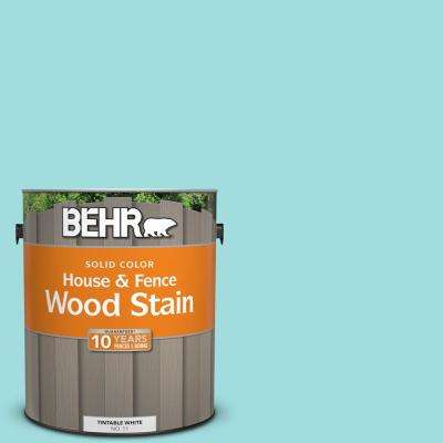 1 gal. #500A-3 Aqua Spray Solid Color House and Fence Exterior Wood Stain