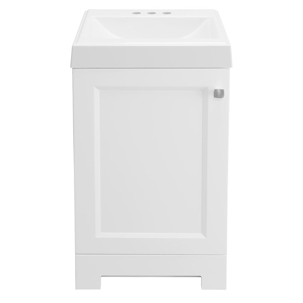 b7c7c55db9d Glacier Bay Shaila 18-1 2 in. W Bath Vanity in White with Cultured ...
