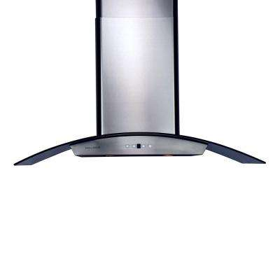 36 in. Chimney Style Range Hood with 860 CFM in Stainless Steel