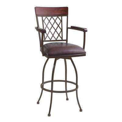 Zoey 26 in. Brown Bar Stool
