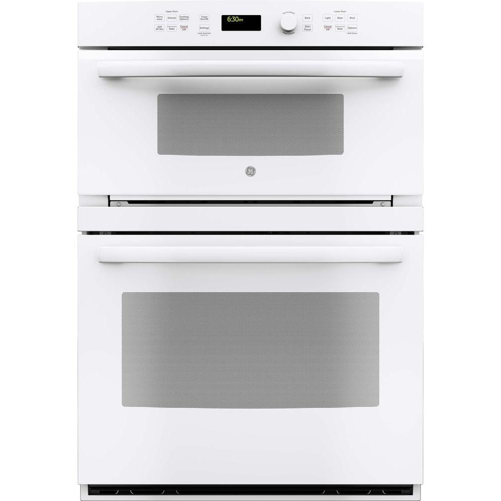 Ge profile 30 in built in electric convection wall oven self cleaning with built in microwave - Built in microwave home depot ...