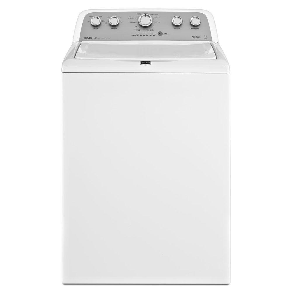 Maytag Bravos X 3.8 cu. ft. High-Efficiency Top Load Washer in White, ENERGY STAR