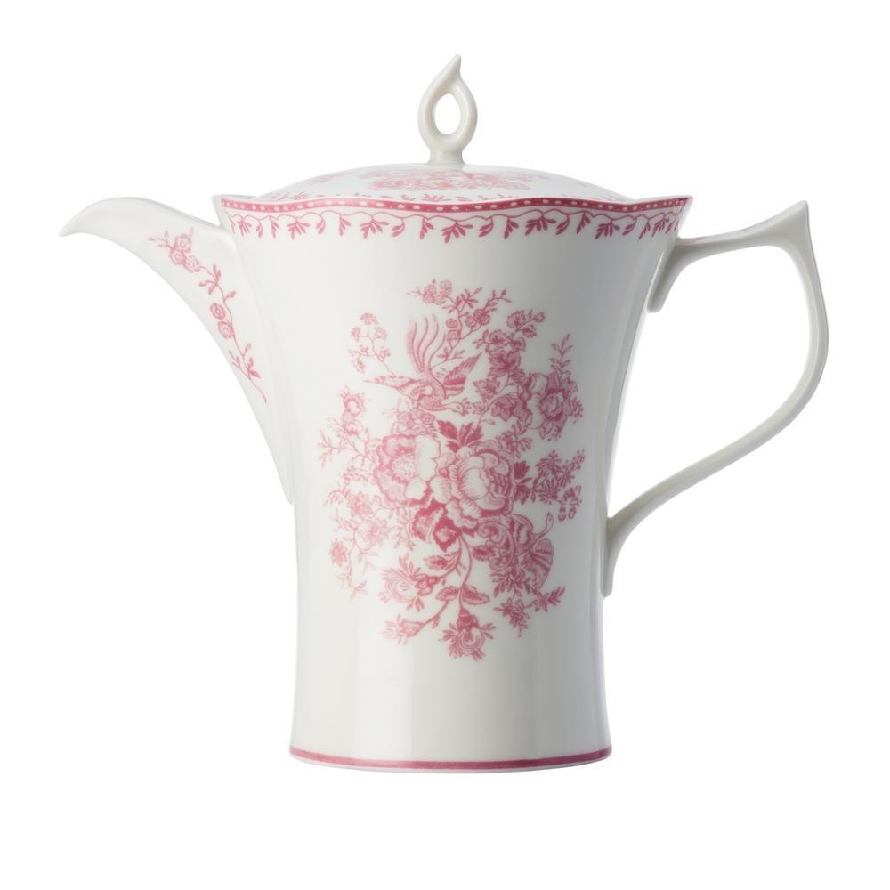 12 oz. Pink Porcelain Pink Tea Pots with Lid (Set of 12)