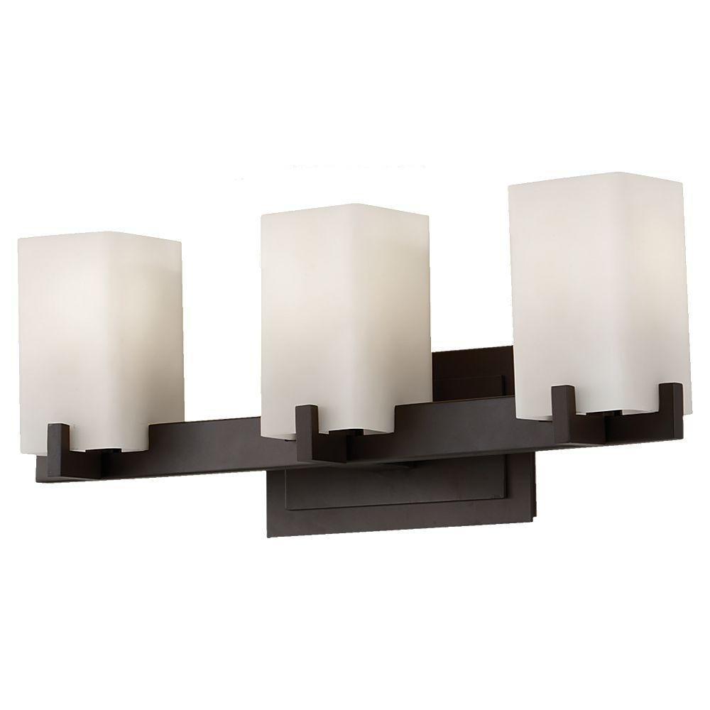 Feiss riva 3 light oil rubbed bronze vanity light vs18403 for Bathroom vanity light fixtures oil rubbed bronze