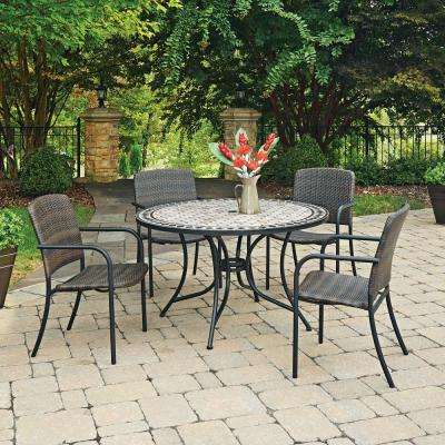 Cottage 5-Piece Marble Outdoor Dining Set