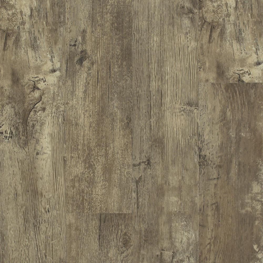 Floorte Jefferson 7 in. x 48 in. Barn Board Resilient Vinyl Plank Flooring (18.68 sq. ft. / case)