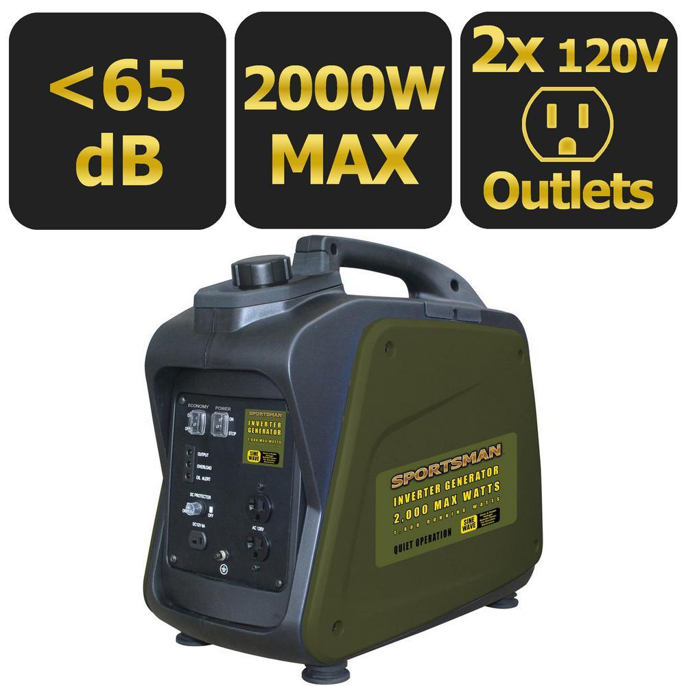Sportsman 2,200-Watt Gasoline Powered Recoil Start Portable Digital Inverter Generator with Parallel Capability by Sportsman
