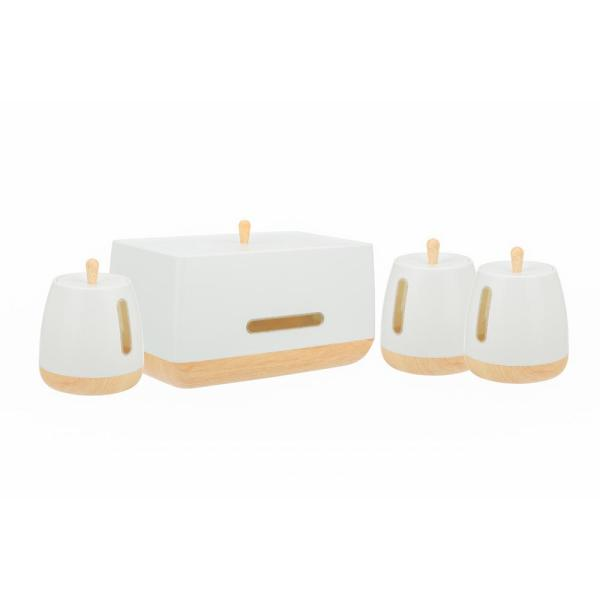 European Collection 4-Piece Plastic Canister Set