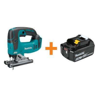 18-Volt LXT Lithium-Ion Brushless Cordless Jig Saw, Tool Only with Bonus 18-Volt LXT Lithium-Ion 5.0 Ah Battery